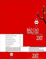 Báo cáo thường niên năm 2007 - Công ty Cổ phần Đồng Tâm