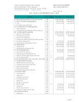 Báo cáo tài chính quý 4 năm 2014 - Công ty Cổ phần Bê tông Hoà Cầm - Intimex