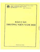 Báo cáo thường niên năm 2010 - Công ty Cổ phần Đầu tư Phát triển Xây dựng - Hội An