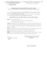 Nghị quyết Hội đồng Quản trị ngày 03-03-2011 - Công ty Cổ phần Sách Giáo dục tại Tp.Hà Nội
