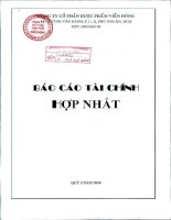 Báo cáo tài chính quý 2 năm 2010 - Công ty Cổ phần Dược phẩm Viễn Đông