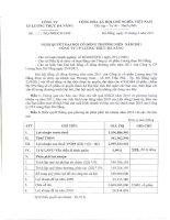 Nghị quyết Đại hội cổ đông thường niên năm 2011 - Công ty Cổ phần Lương thực Đà Nẵng