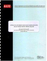 Báo cáo tài chính hợp nhất năm 2014 (đã kiểm toán) - Công ty Cổ phần Sản xuất Kinh doanh Xuất nhập khẩu Bình Thạnh