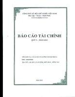 Báo cáo tài chính công ty mẹ quý 3 năm 2013 - Công ty Cổ phần Đầu tư Phát triển Cường Thuận IDICO