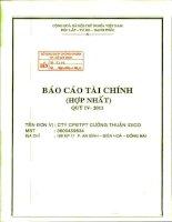 Báo cáo tài chính hợp nhất quý 4 năm 2011 - Công ty Cổ phần Đầu tư Phát triển Cường Thuận IDICO