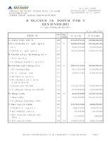 Báo cáo tài chính hợp nhất quý 2 năm 2011 - Công ty Cổ phần Dịch vụ và Xây dựng Địa ốc Đất Xanh