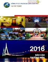 Báo cáo thường niên năm 2015 - Công ty cổ phần Du lịch Cần Thơ