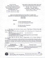 Báo cáo tình hình quản trị công ty - Tổng Công ty Cổ phần Đầu tư Phát triển Xây dựng