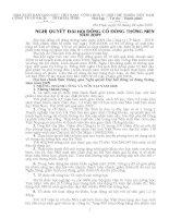 Nghị quyết đại hội cổ đông ngày 30-04-2009 - Công ty Cổ phần Sách - Thiết bị trường học Hà Tĩnh