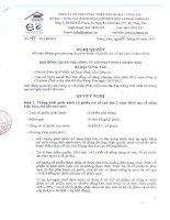 Nghị quyết Hội đồng Quản trị ngày 05-04-2011 - Công ty Cổ phần Phát triển nhà Bà Rịa-Vũng Tàu