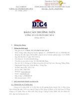 Báo cáo thường niên năm 2014 - Công ty Cổ phần DIC số 4