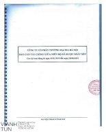 Báo cáo tài chính quý 2 năm 2015 (đã soát xét) - Công ty Cổ phần Thương mại Bia Hà Nội