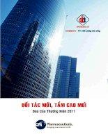 Báo cáo thường niên năm 2011 - Công ty Cổ phần Xuất nhập khẩu Y tế Domesco