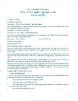 Báo cáo thường niên năm 2013 - Công ty Cổ phần Thép Đà Nẵng