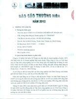 Báo cáo thường niên năm 2012 - Công ty Cổ phần Chế biến Gỗ Thuận An