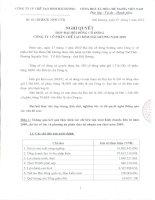 Nghị quyết đại hội cổ đông ngày 27-3-2010 - Công ty Cổ phần Chế tạo Bơm Hải Dương