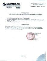 Nghị quyết Hội đồng Quản trị ngày 19-10-2010 - Ngân hàng Thương mại Cổ phần Xuất nhập khẩu Việt Nam
