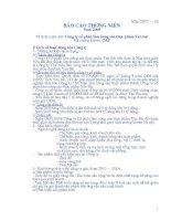 Báo cáo thường niên năm 2009 - Công ty Cổ phần Lâm Nông sản Thực phẩm Yên Bái