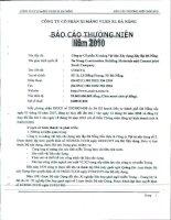 Báo cáo thường niên năm 2010 - Công ty Cổ phần VICEM Vật liệu Xây dựng Đà Nẵng