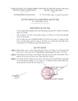 Nghị quyết Hội đồng Quản trị ngày 11-5-2011 - Công ty Cổ phần Đầu tư và Phát triển Nhà đất COTEC