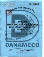 Báo cáo thường niên năm 2014 - Tổng Công ty cổ phần Y tế Danameco