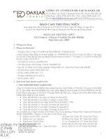 Báo cáo thường niên năm 2015 - Công ty Cổ phần Du lịch Đắk Lắk