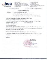 Nghị quyết Hội đồng Quản trị ngày 31-5-2011 - Công ty Cổ phần Chứng khoán Thành phố Hồ Chí Minh