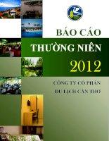 Báo cáo thường niên năm 2012 - Công ty cổ phần Du lịch Cần Thơ