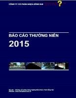 Báo cáo thường niên năm 2015 - Công ty Cổ phần Nhựa Đồng Nai