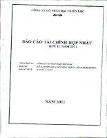 Báo cáo tài chính hợp nhất quý 2 năm 2011 - Công ty Cổ phần Đại Thiên Lộc