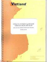 Báo cáo tài chính quý 2 năm 2015 (đã soát xét) - Công ty cổ phần Gạch Ngói Gốm Xây dựng Mỹ Xuân