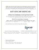 Bản cáo bạch - Công ty Cổ phần Cafico Việt Nam