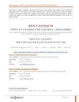 Bản cáo bạch - CTCP Chế tạo máy Vinacomin