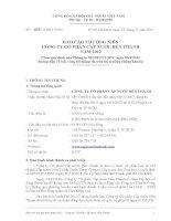 Báo cáo thường niên năm 2012 - Công ty Cổ phần Cấp nước Bến Thành