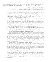 Nghị quyết đại hội cổ đông ngày 31-03-2011 - Công ty Cổ phần Sách - Thiết bị trường học Hà Tĩnh