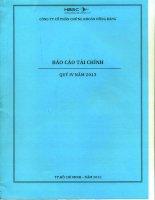 Báo cáo tài chính quý 4 năm 2013 - Công ty Cổ phần Chứng khoán Hưng Thịnh