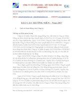 Báo cáo thường niên năm 2007 - Công ty Cổ phần Nhựa Đồng Nai