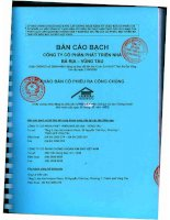 Bản cáo bạch - Công ty Cổ phần Phát triển nhà Bà Rịa-Vũng Tàu