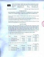 Nghị quyết Đại hội cổ đông thường niên - Công ty Cổ phần Phát triển Đô thị Công nghiệp Số 2