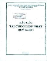 Báo cáo tài chính hợp nhất quý 2 năm 2011 - Công ty cổ phần Đầu tư Hạ tầng Kỹ thuật T.P Hồ Chí Minh