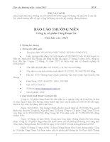 Báo cáo thường niên năm 2013 - Công ty cổ phần Cảng Đoạn Xá