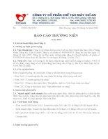 Báo cáo thường niên năm 2012 - Công ty Cổ phần Chế tạo máy Dzĩ An