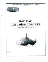 Báo cáo tài chính quý 4 năm 2011 - Công ty Cổ phần Xuất nhập khẩu Lâm Thủy sản Bến Tre