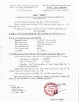 Nghị quyết Hội đồng Quản trị - Công ty cổ phần VICEM Bao bì Bút Sơn
