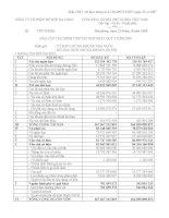 Báo cáo tài chính quý 3 năm 2009 - Công ty Cổ phần Đồ hộp Hạ Long