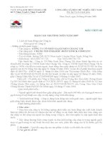 Báo cáo thường niên năm 2007 - Công ty Cổ phần Gạch men Chang Yih