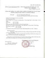Nghị quyết Đại hội cổ đông thường niên - Công ty Cổ phần Cao su Đà Nẵng