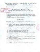 Nghị quyết Hội đồng Quản trị ngày 1-3-2011 - Công ty Cổ phần Phát triển Đô thị Công nghiệp Số 2