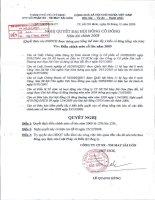 Nghị quyết đại hội cổ đông ngày 25-12-2009 - Công ty Cổ phần Sản xuất Thương mại May Sài Gòn