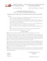 Nghị quyết Hội đồng Quản trị ngày 31-03-2011 - Công ty Cổ phần Chứng khoán Hòa Bình